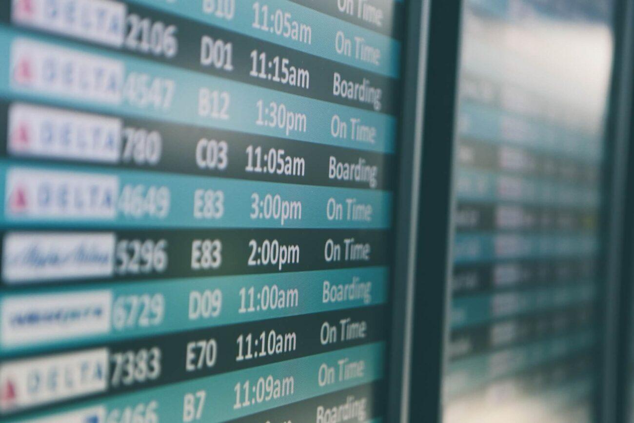 Como fazer stopover - quadro de voos