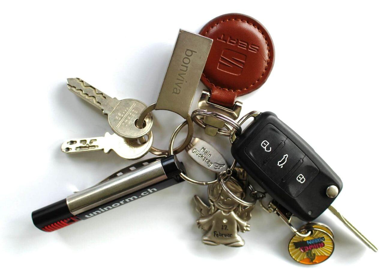 Molho de chaves desapego para viajar