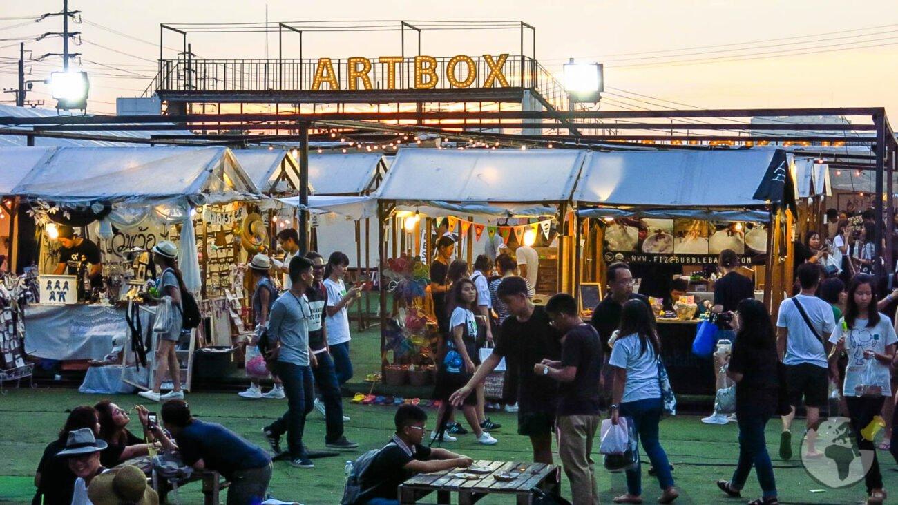 Mercados de Rua de Bangkok: Artbox