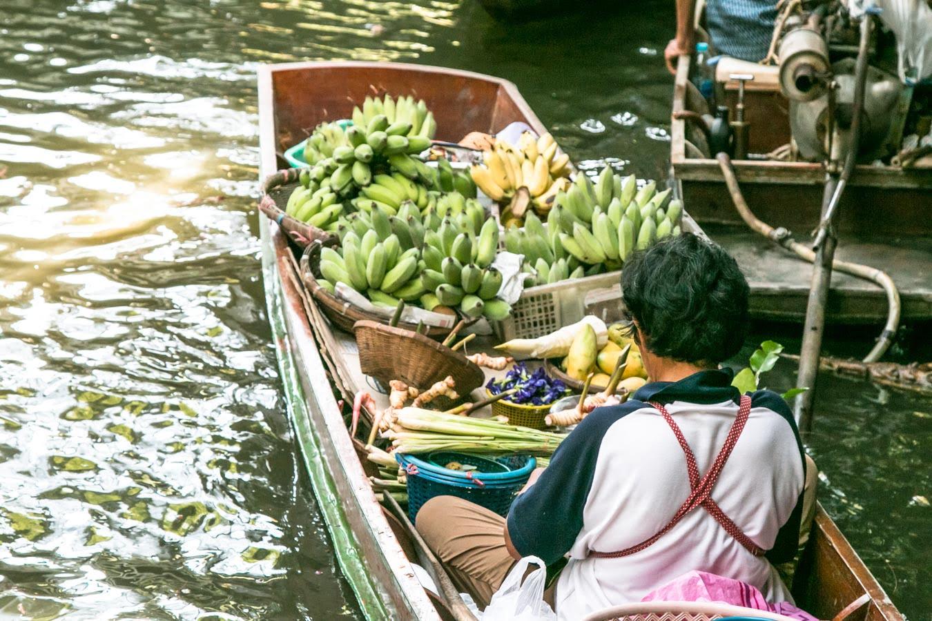 Mercado Flutuante Bangkok Khlong Lat Mayom 1