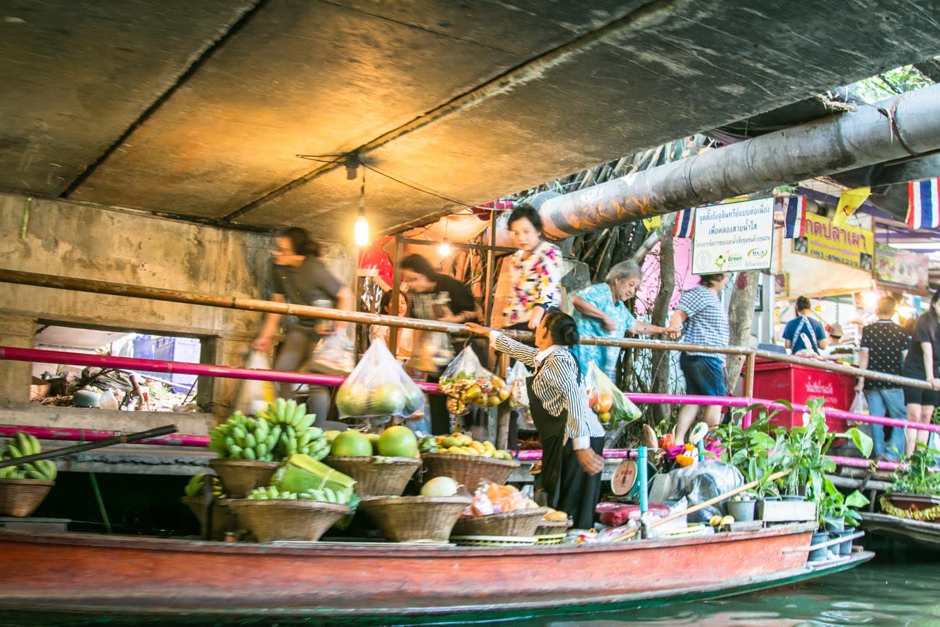 Mercado Flutuante Bangkok Khlong Lat Mayom 5