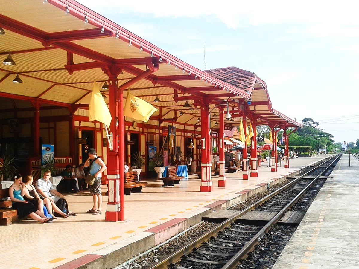 Hua Hin Tailândia - Estação de trem