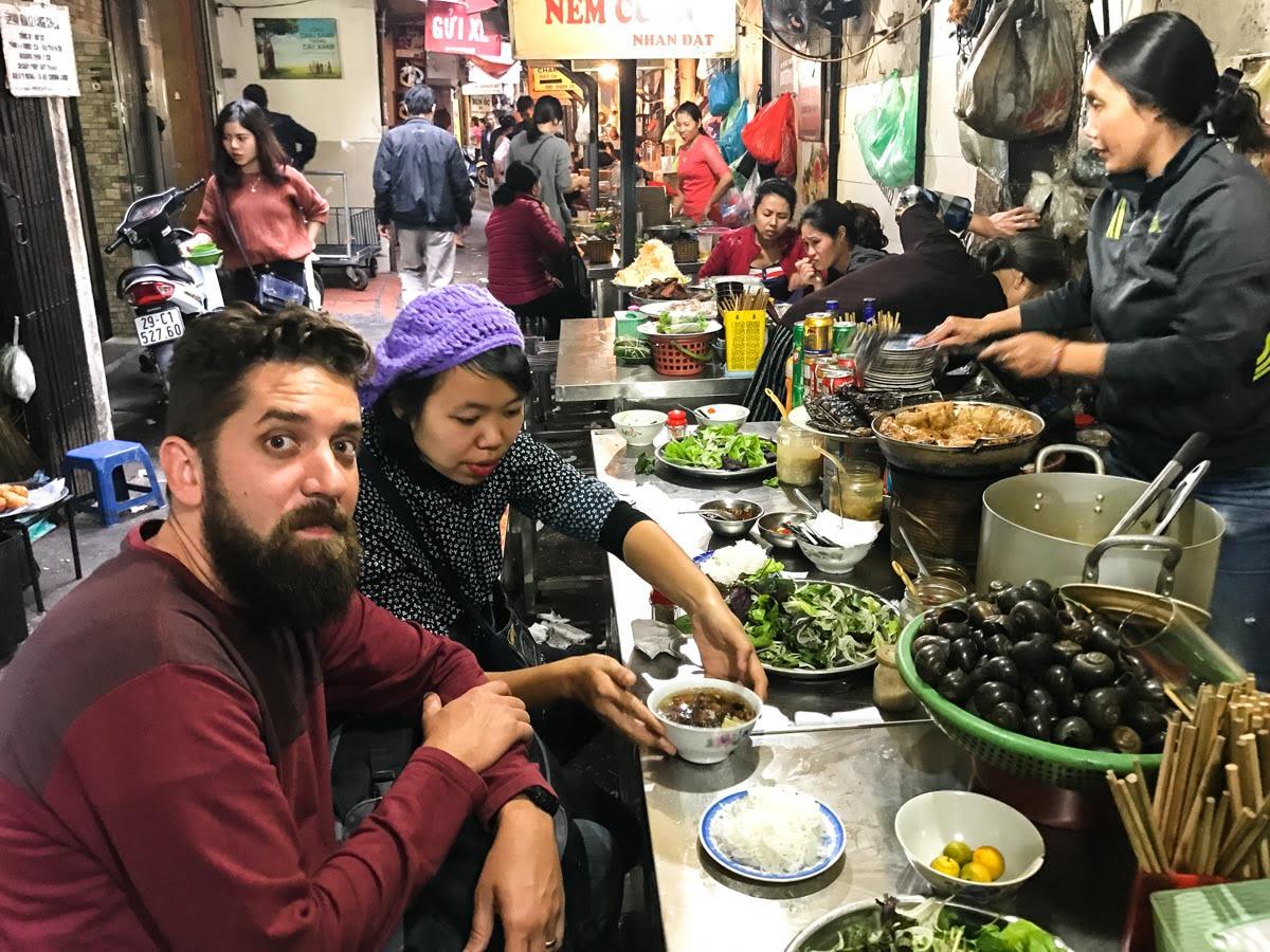 Hanoi Vietna - comida de rua