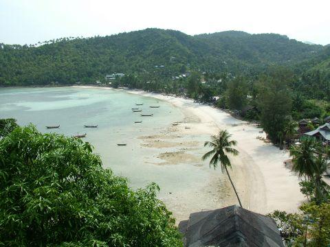 koh phangan tailandia praia do alto