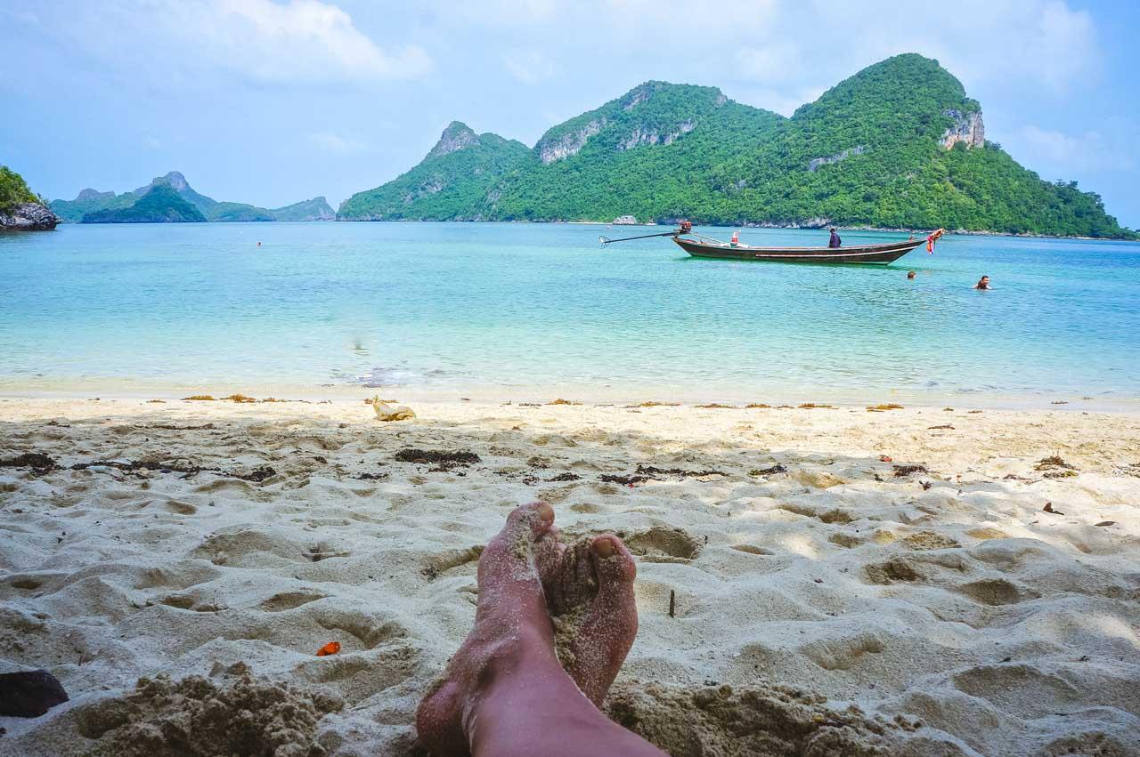 koh phangan tailandia - descansando os pés