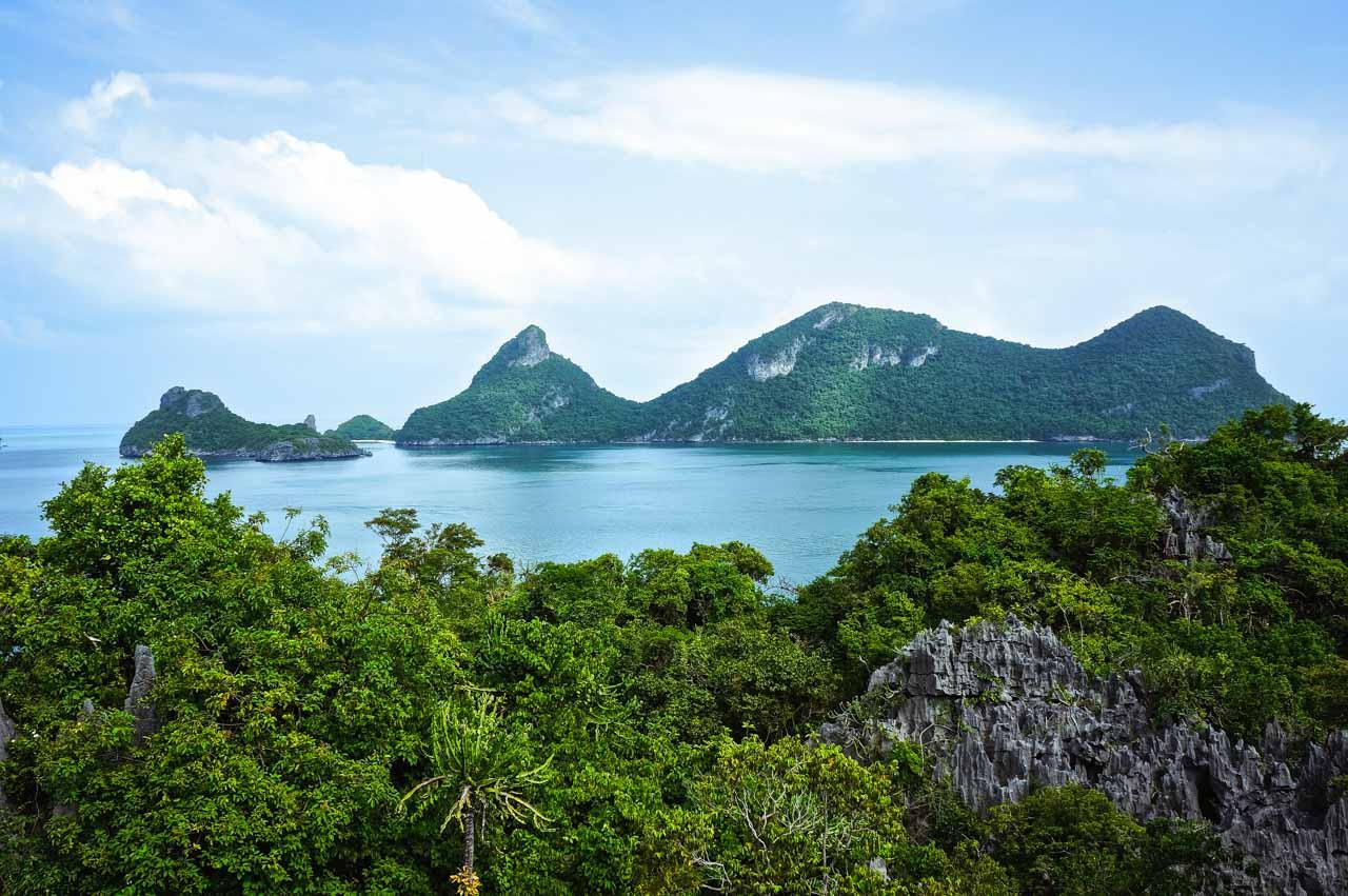 koh phangan tailandia vista da ilha