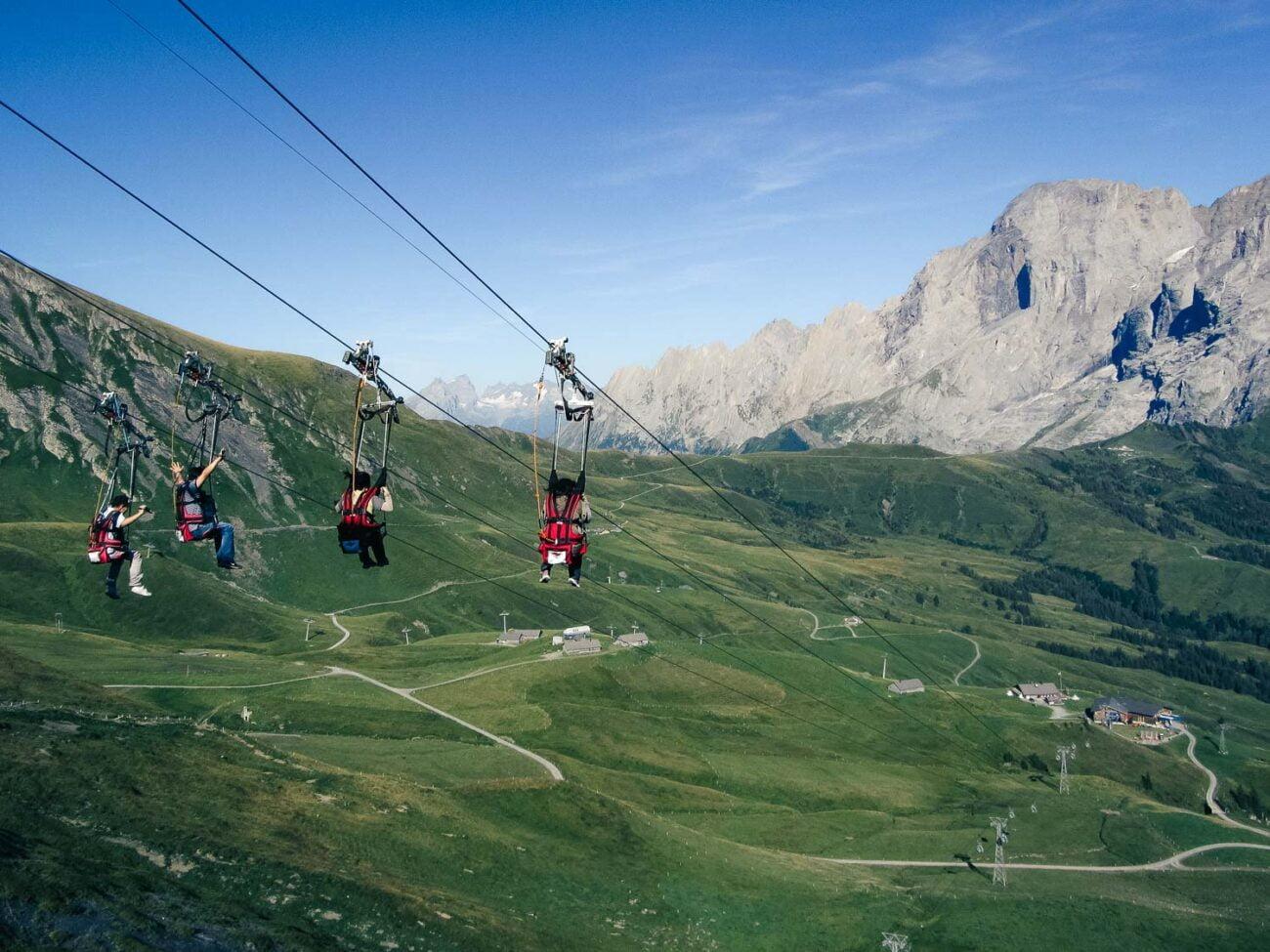 Tirolesa Grindelwald Suíça