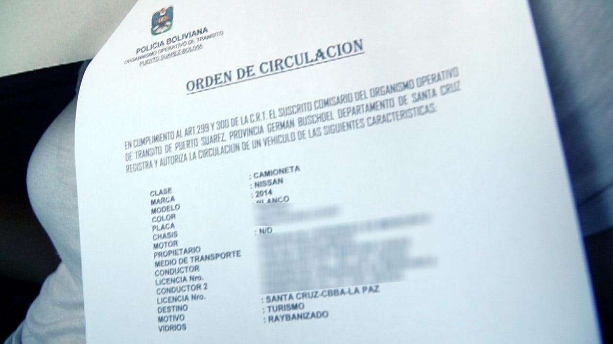 Documentos para viajar de carro pela Bolívia - Ordem Circulação
