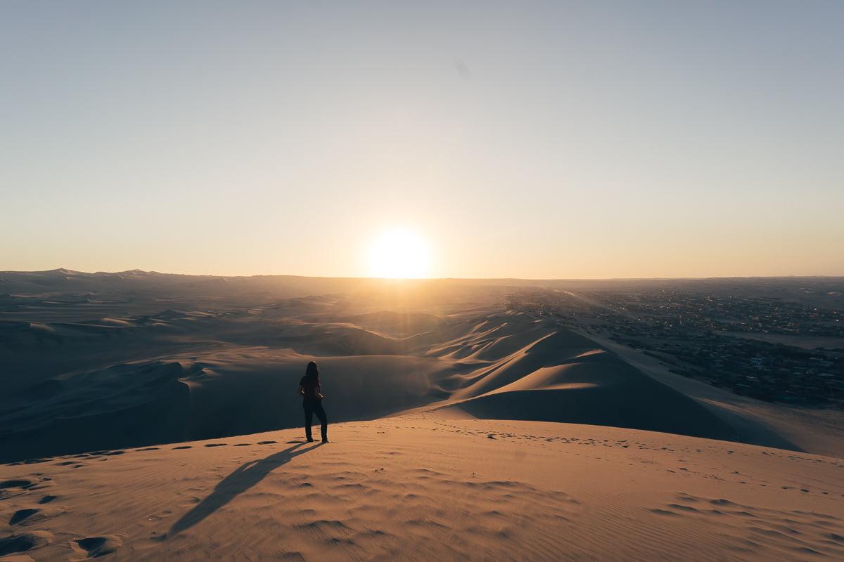 O que fazer em Ica - Pôr do Sol