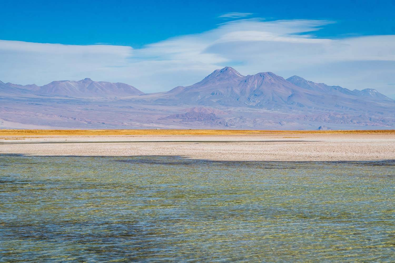 Laguna Cejar Ojos del Salar e Laguna Tebenquiche - Horizonte vulcanico