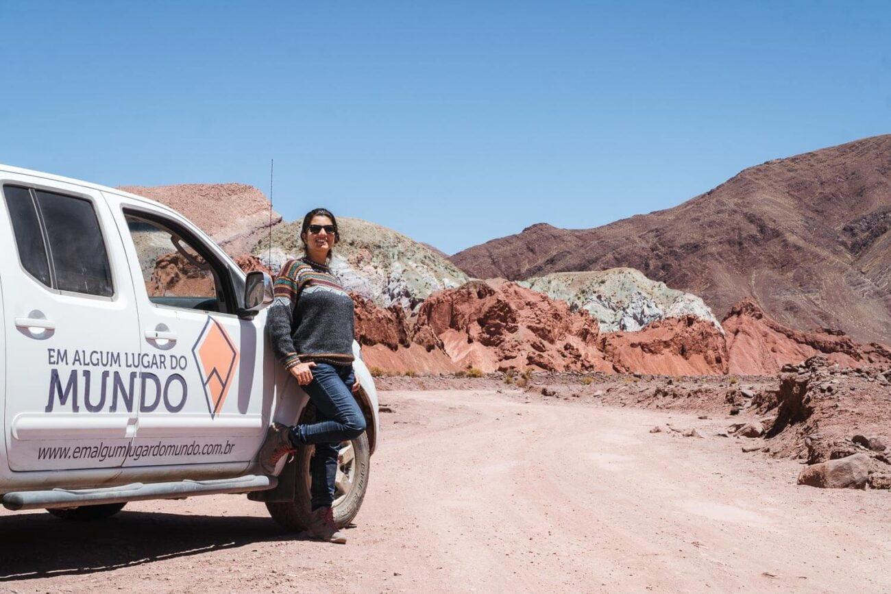 Foto da Dri e nosso carro - Vale do Arco Íris e Hierbas Buenas