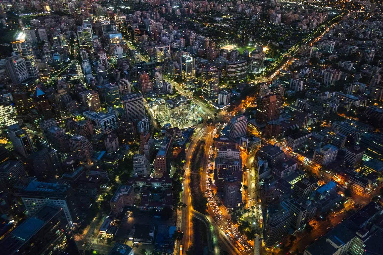 Sky Costanera Santiago Chile  - Noite