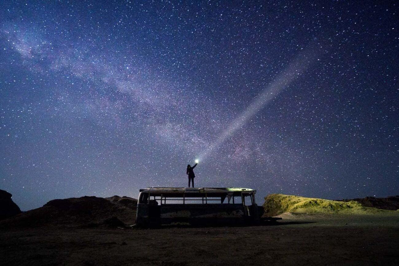 Ônibus Abandonado Atacama - Magic Bus - Noite