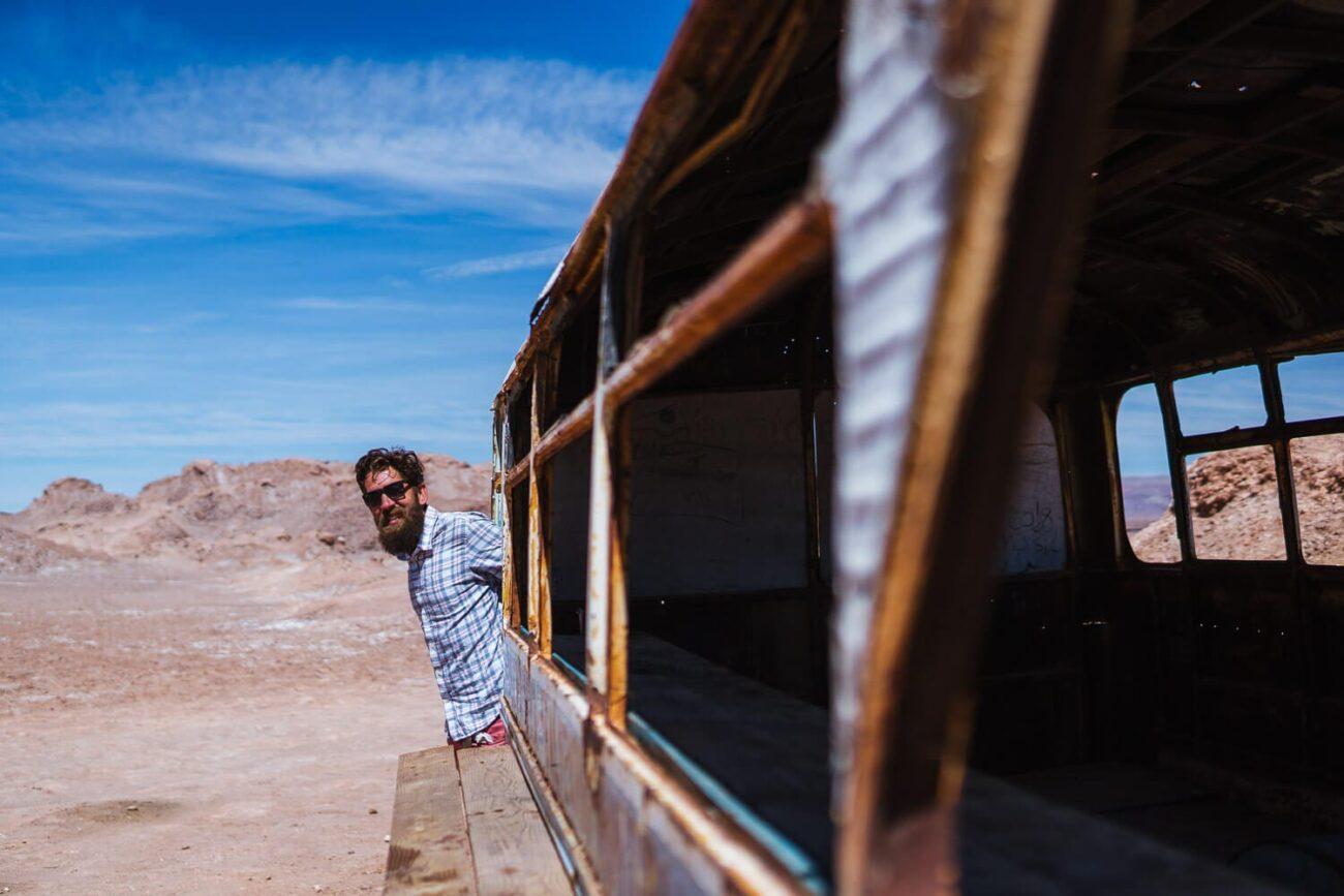 Ônibus Abandonado Atacama - Magic Bus - Lateral