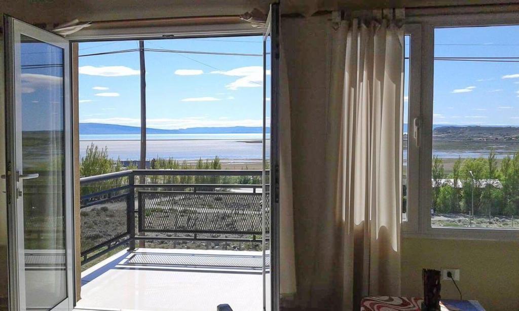 Onde ficar em El Calafate -  Vista pro lago dos apartamentos Altos Del Lago