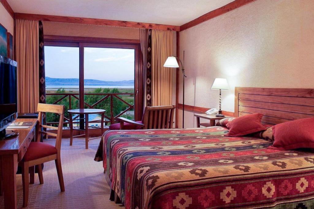 Onde ficar em El Calafate - Camas de casal no Hotel Mirador Del Lago