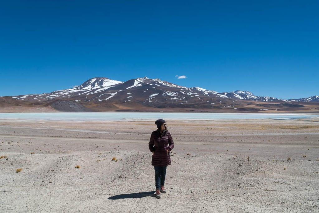 Deserto do Atacama Chile - Foto da Laguna Tuyajto, mais uma laguna no Deserto do Atacama