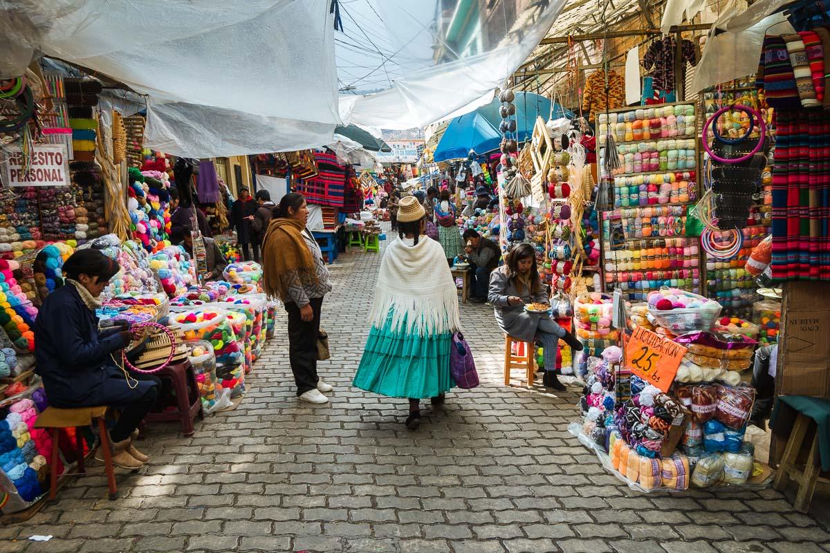 Viagem para Bolívia - Cholita na Feira