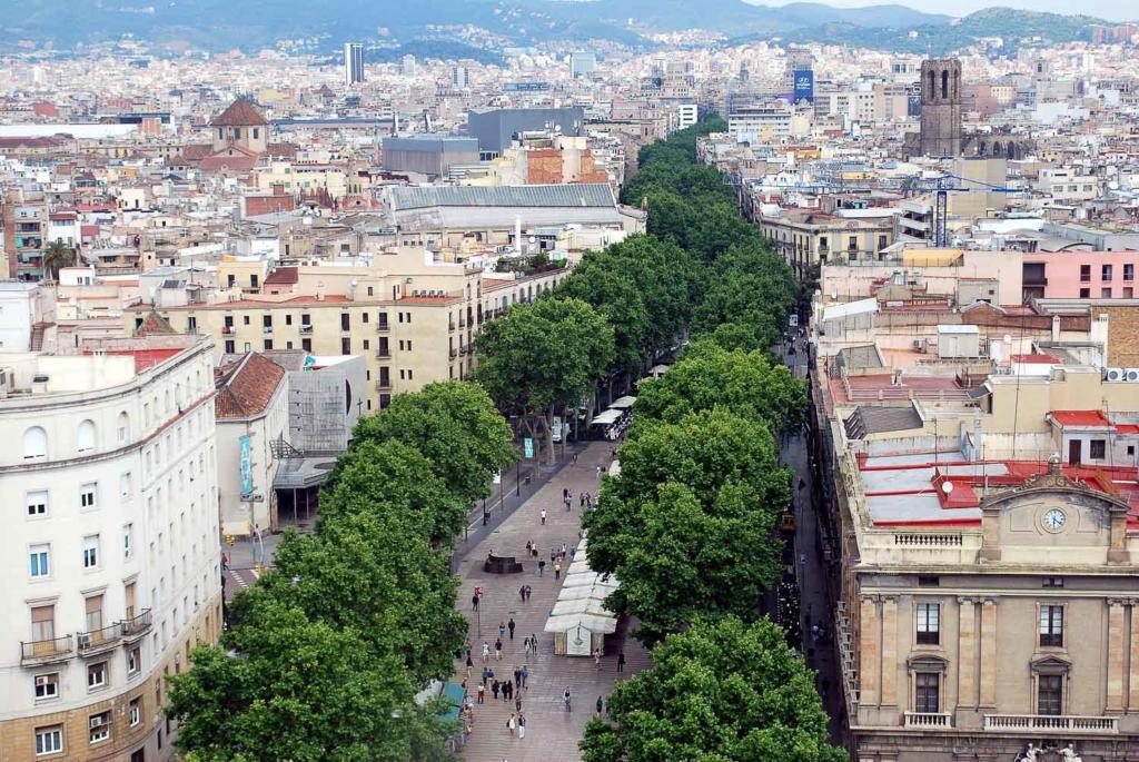 Pontos turisticos de Barcelona: Las Ramblas