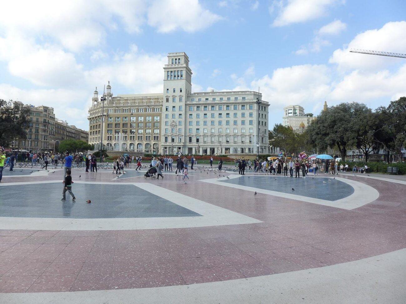 Pontos turisticos de Barcelona: Placa de Catalunya