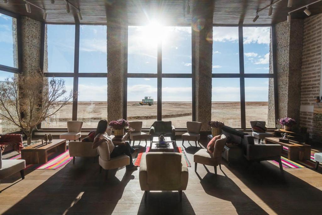 Salar de Uyuni - Foto do salão do restaurante do hotel Palácio de Sal