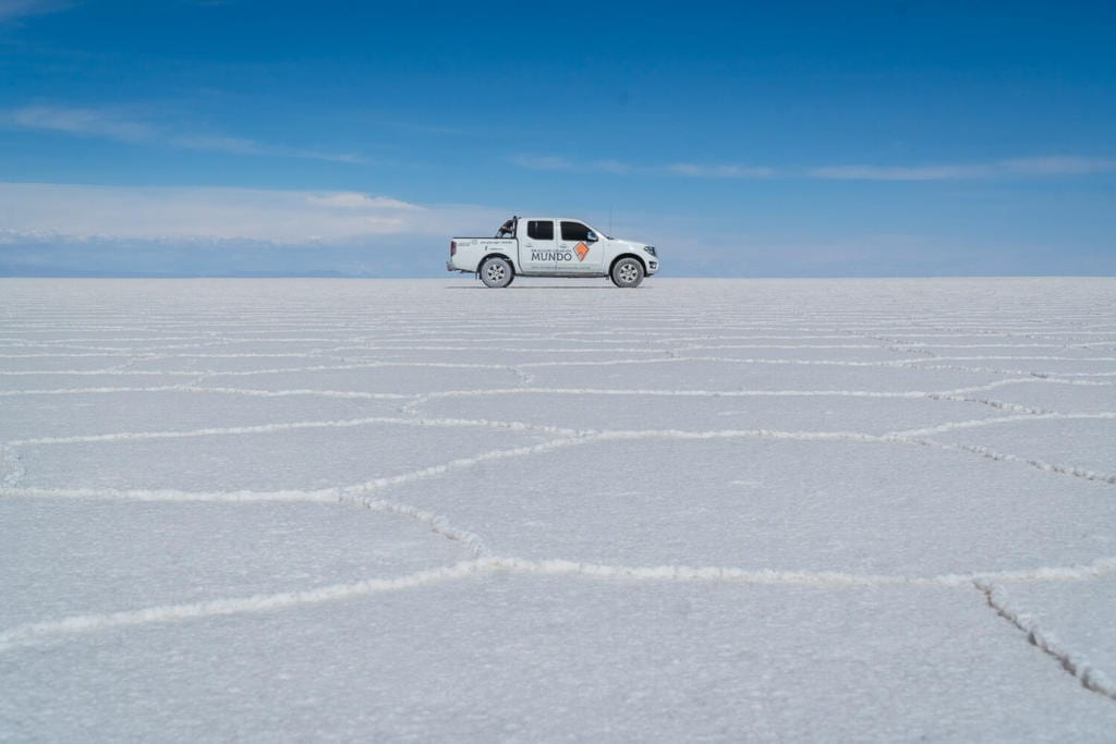 Salar de Uyuni - Foto da Pickup que nos levou do Atacama até o Uyuni