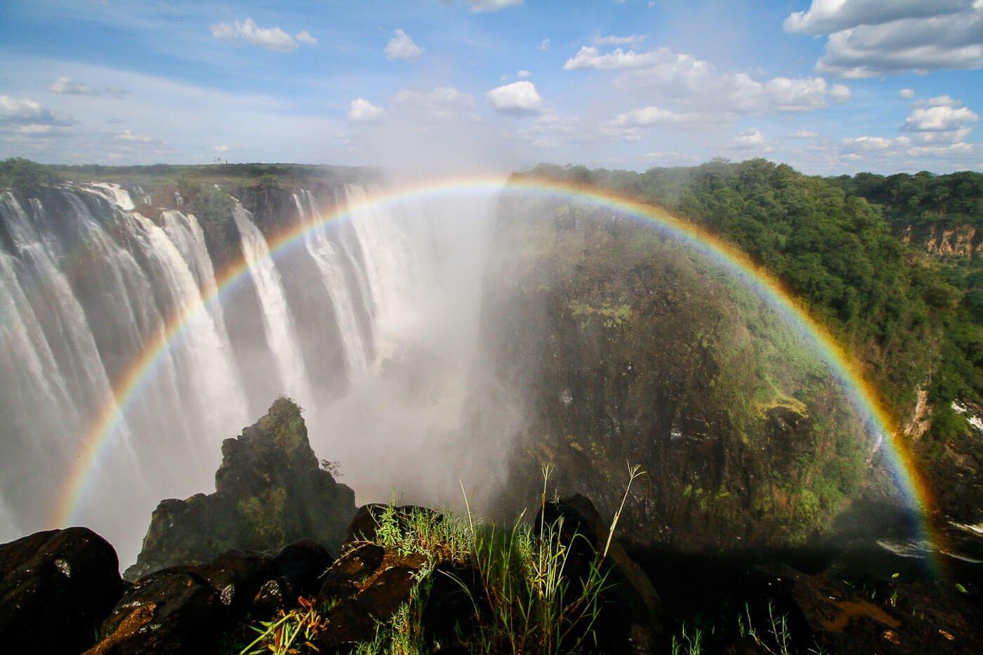 turismo no Zimbábue - Rainbow Falls