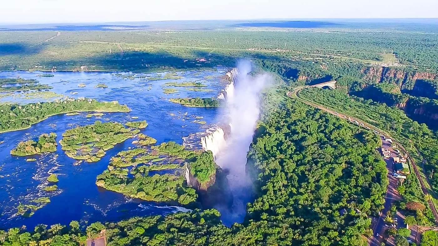 turismo no Zimbábue - aérea Victoria Falls