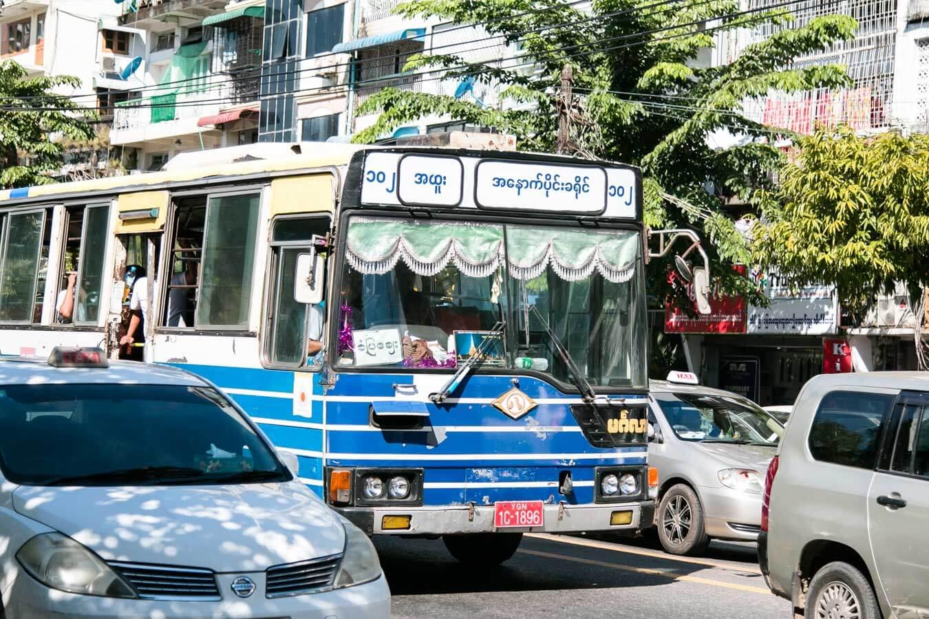 Viagem para o Myanmar - Onibus