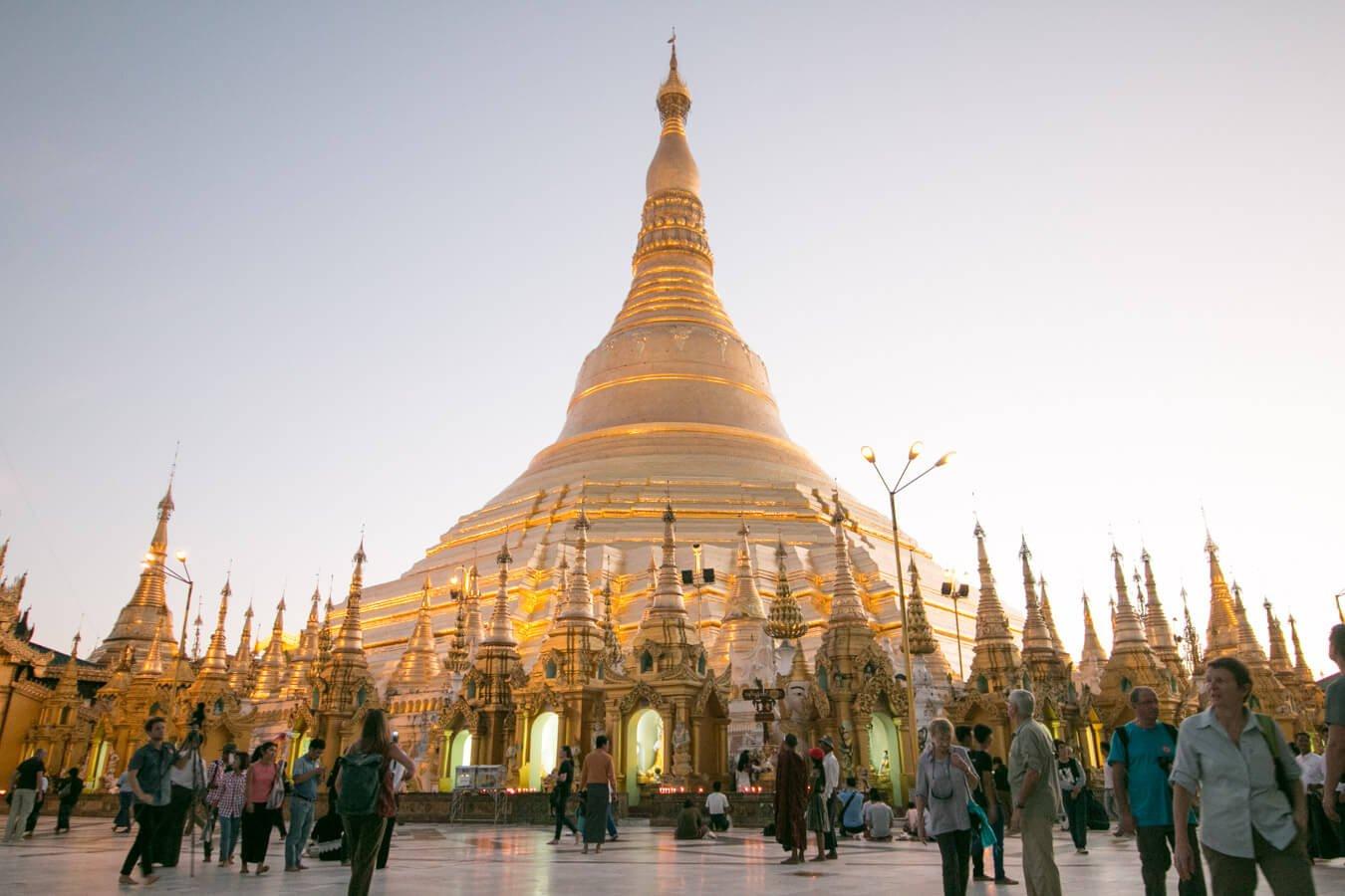 Viagem para Myanmae - Pagoda em yangon