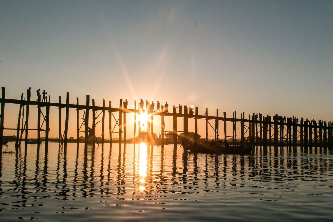 Viagem para o Myanmar- U Bein Bridge