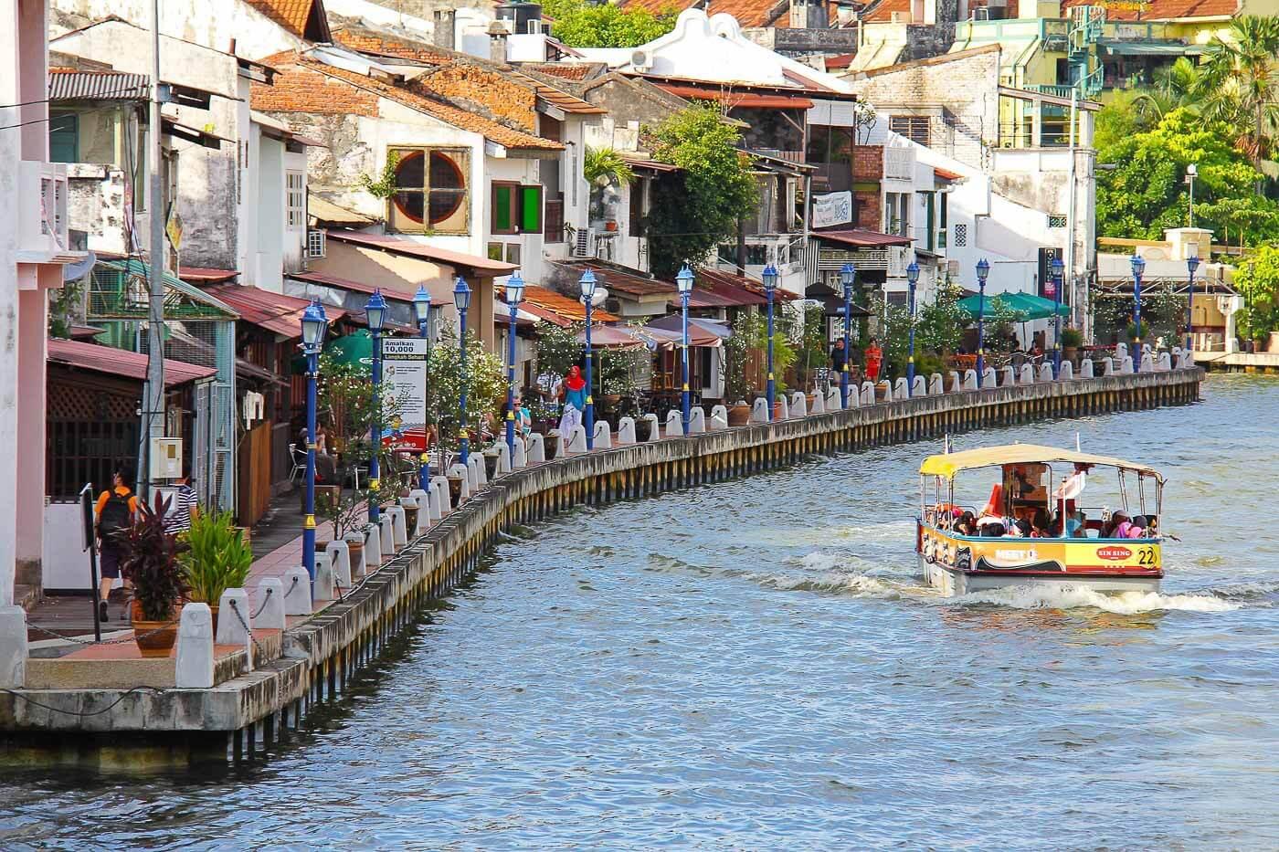 Turismo na Malásia - Rio Melaka