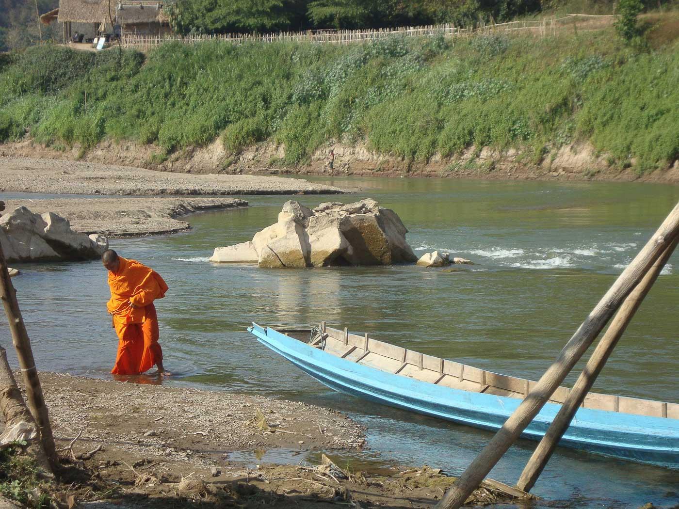 Turismo no Laos - Rio onde eu perdi meu Drone