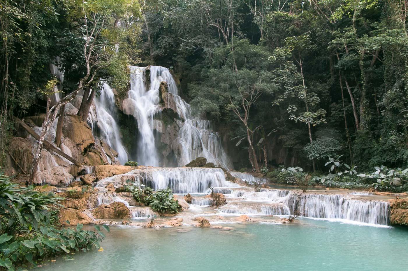 Turismo no Laos - Cachoeira Kuang Si