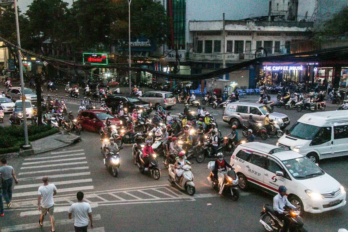 Turismo no Vietna - Transito Ho Chi Minh