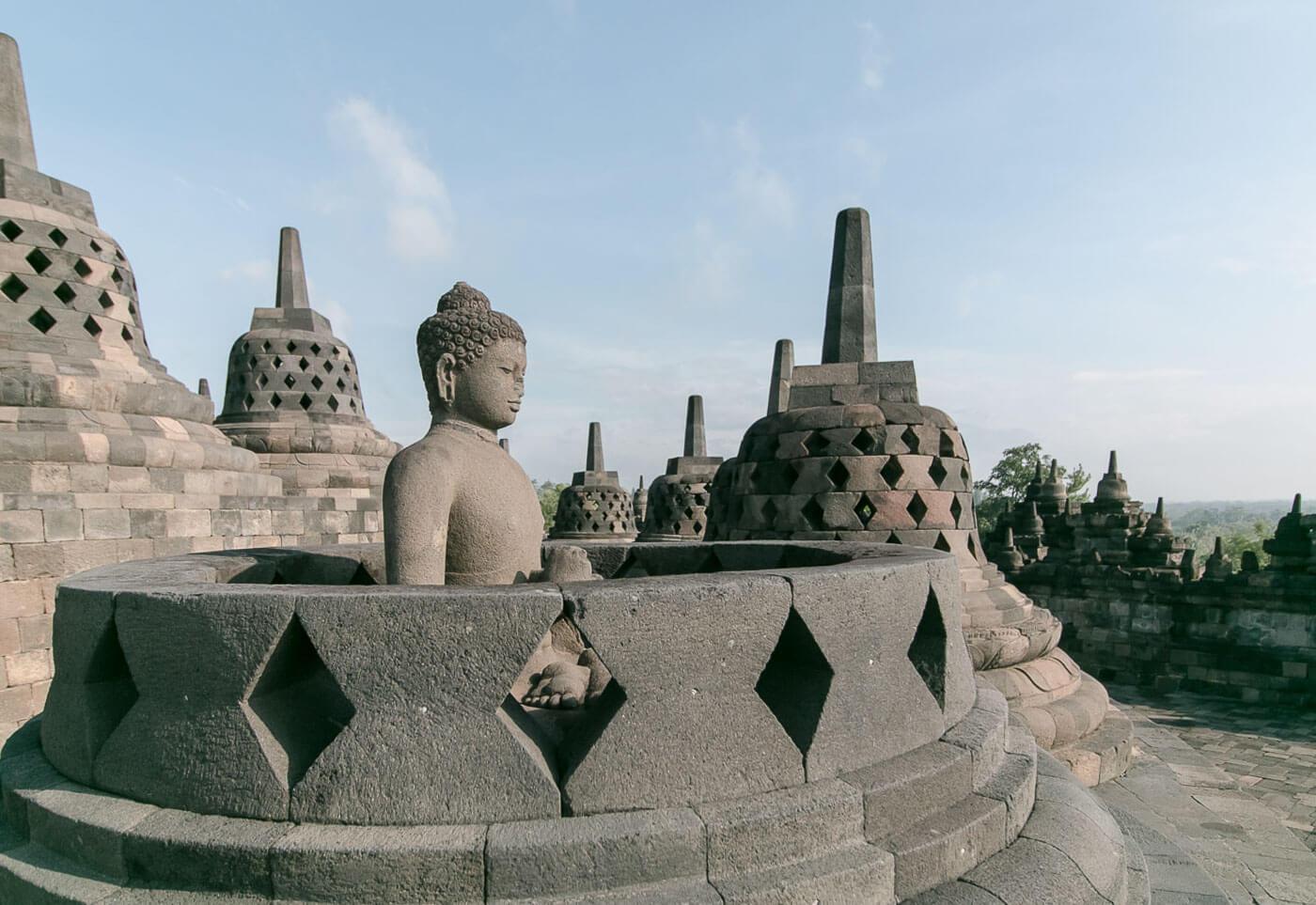 Viagem para Indonesia - Templo Borobudur