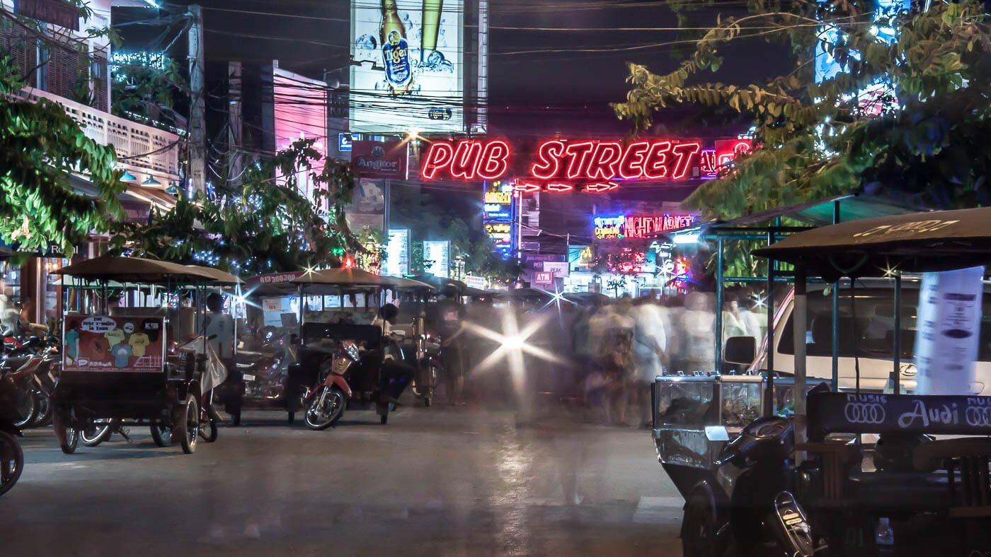 Viagem para o Camboja - Pub Street