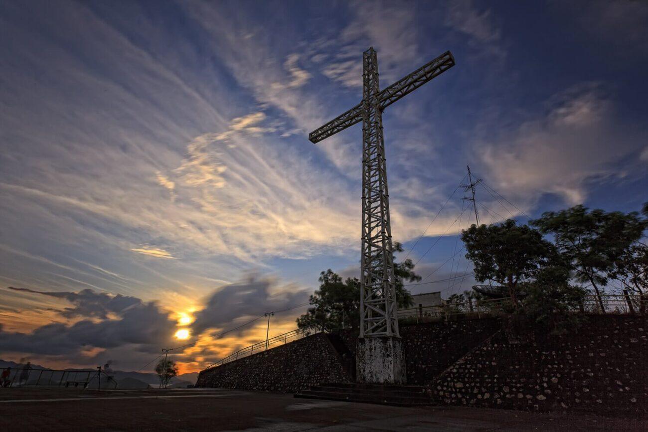 Foto da cruz do monte Tapyas - Coron Filipinas