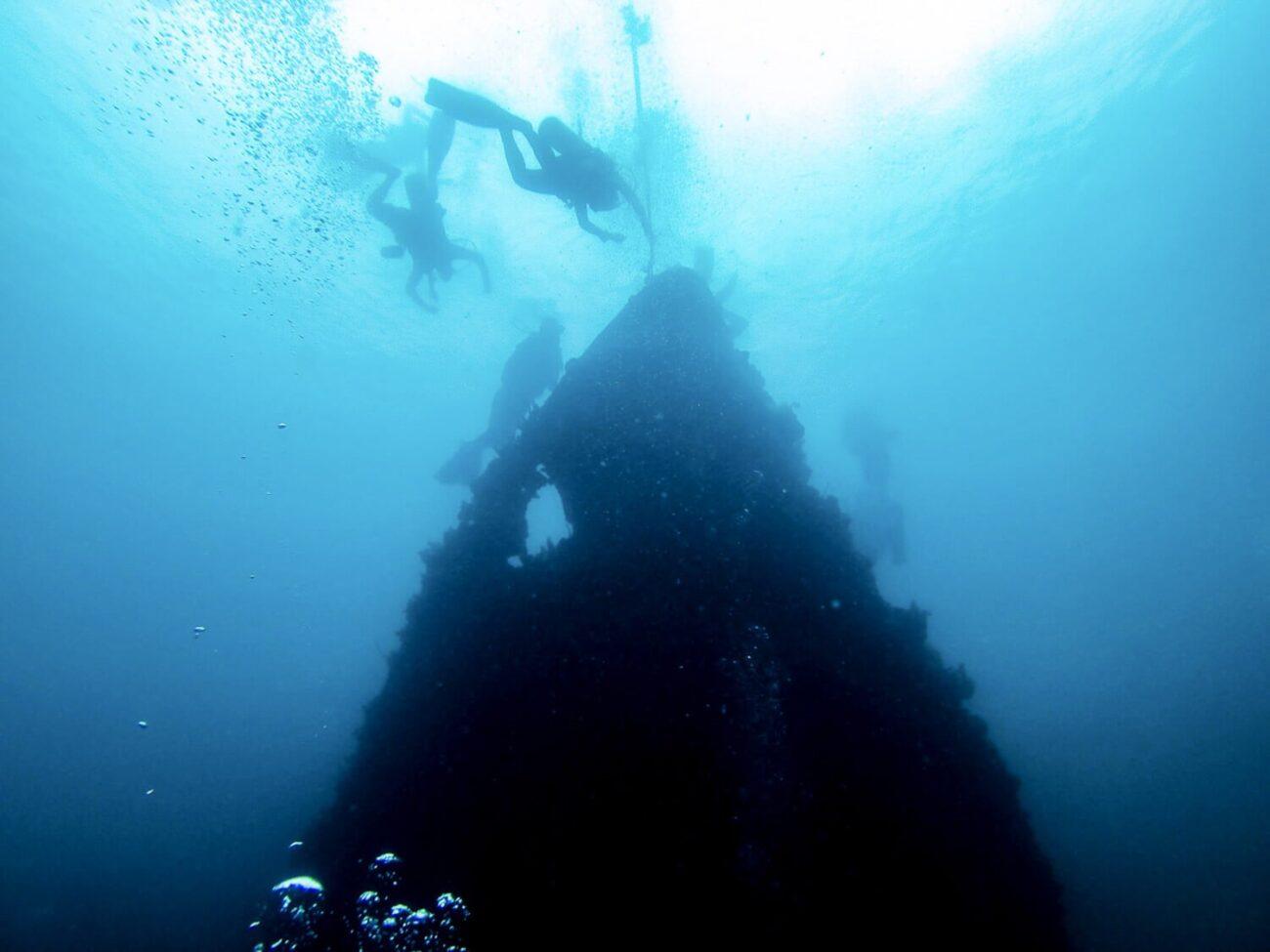 Foto da Proa do naufrágio do navio japonês - Coron Filipinas