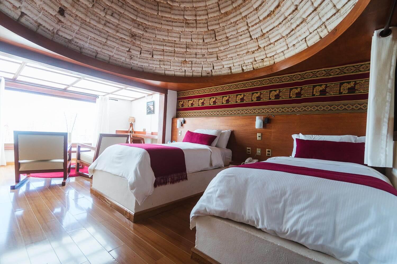 Foto das camas do quarto do Hotel Palácio de Sal - hotel de sal no Uyuni