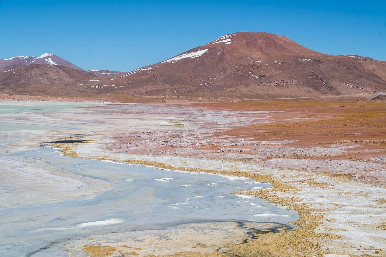 Vista do Alto das Piedras Rojas - Lagunas Altiplanicas Piedras Rojas Salar do Atacama Laguna Chaxa