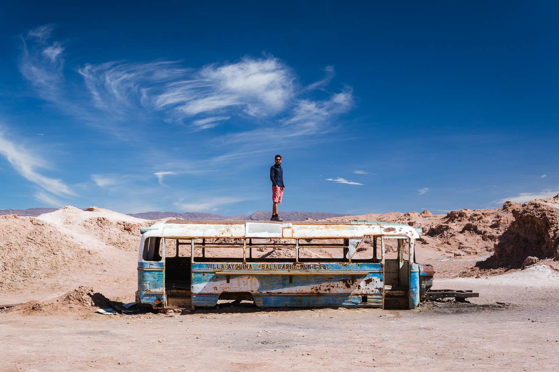 Lagunas Escondidas de Baltinache - ônibus abandonado