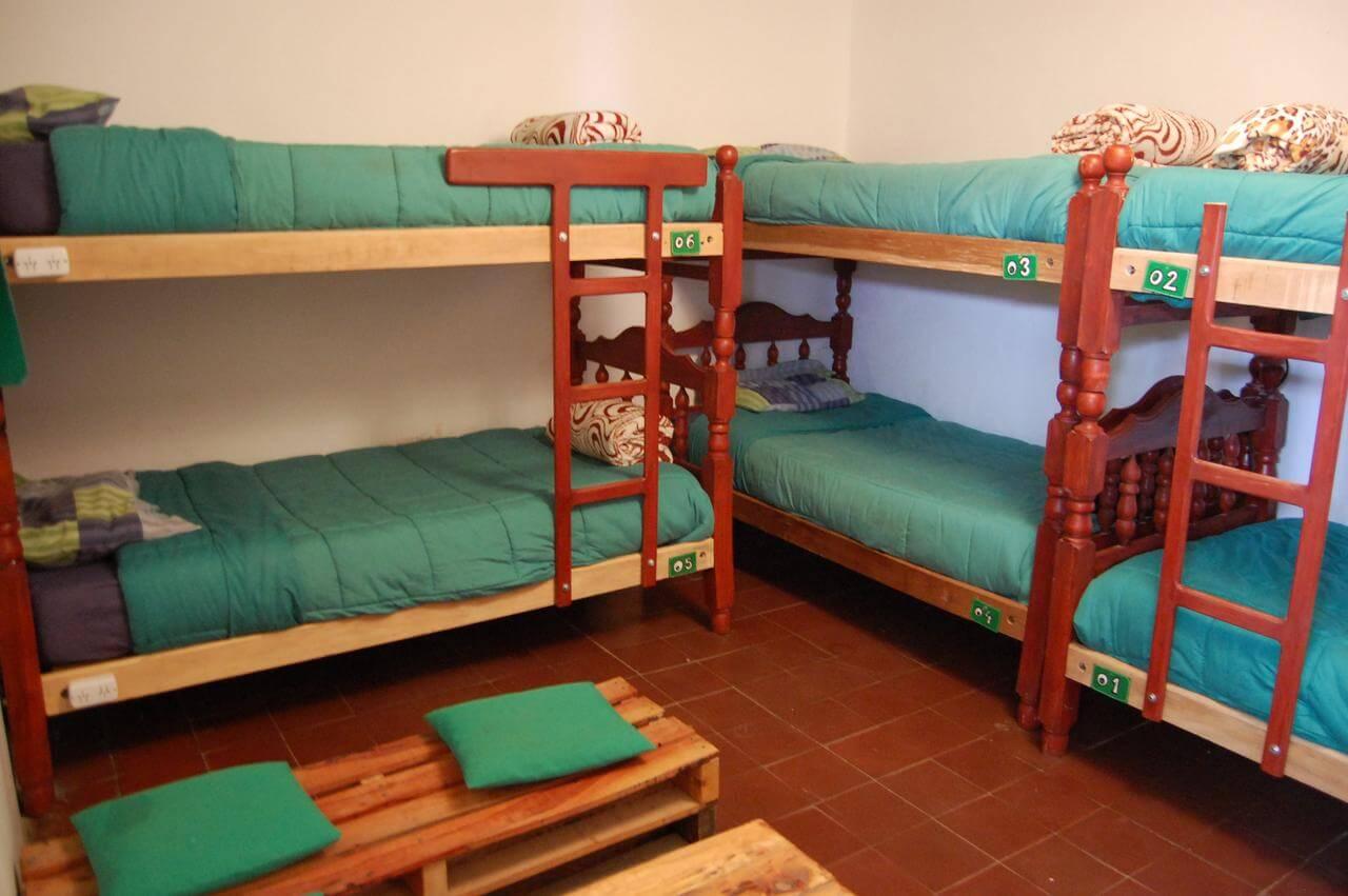 O que fazer em Jujuy - foto do quarto compartilhado do hotel
