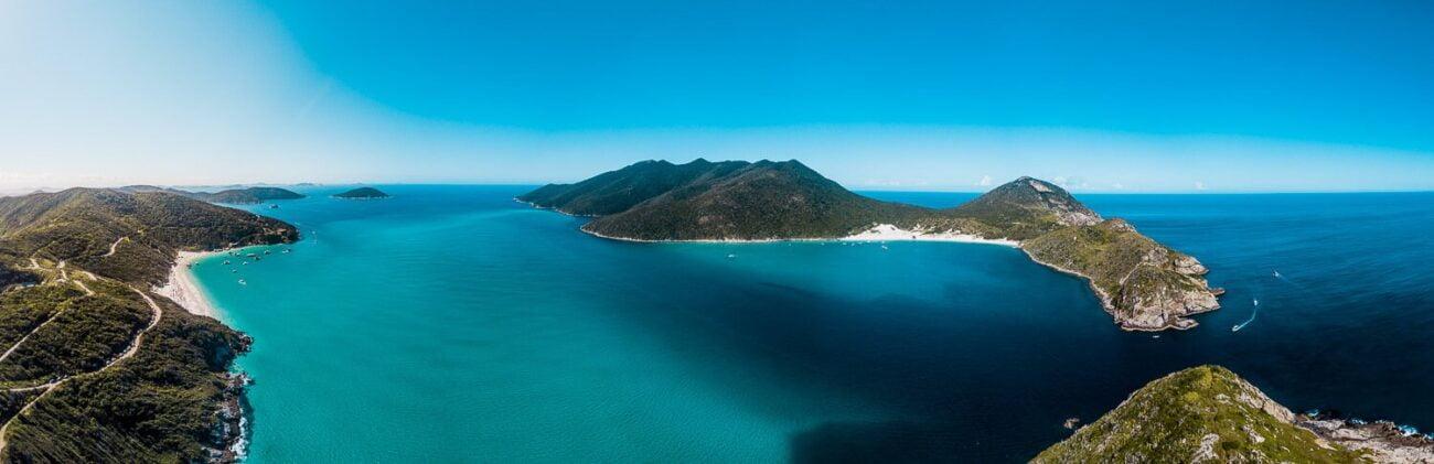 Mergulho em Arraial do Cabo - Foto panorâmica de Arraial