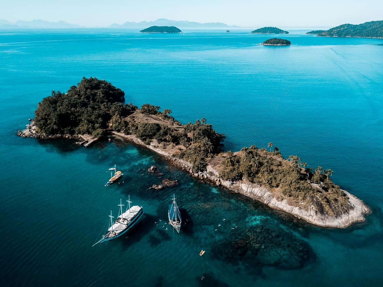 O que fazer em Paraty - Foto aérea Ilha Comprida