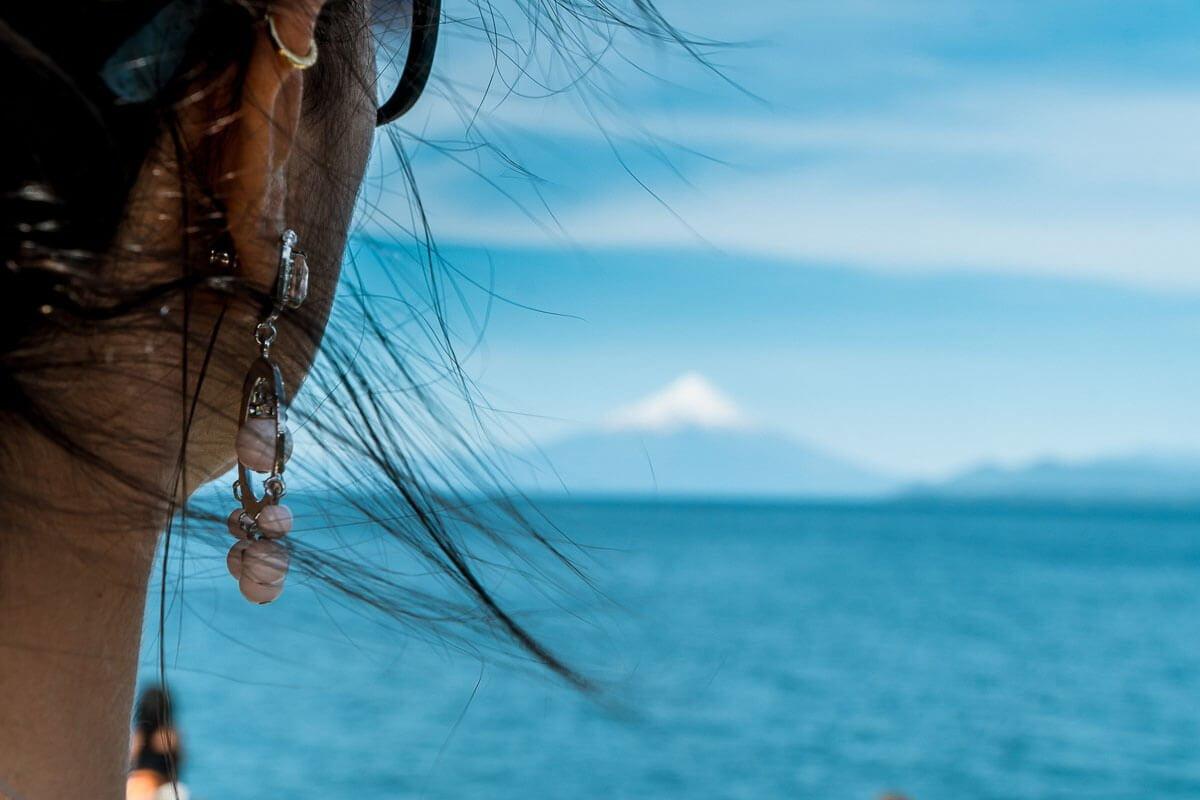 O que fazer em Puerto Varas - Vista de longe do vulcão