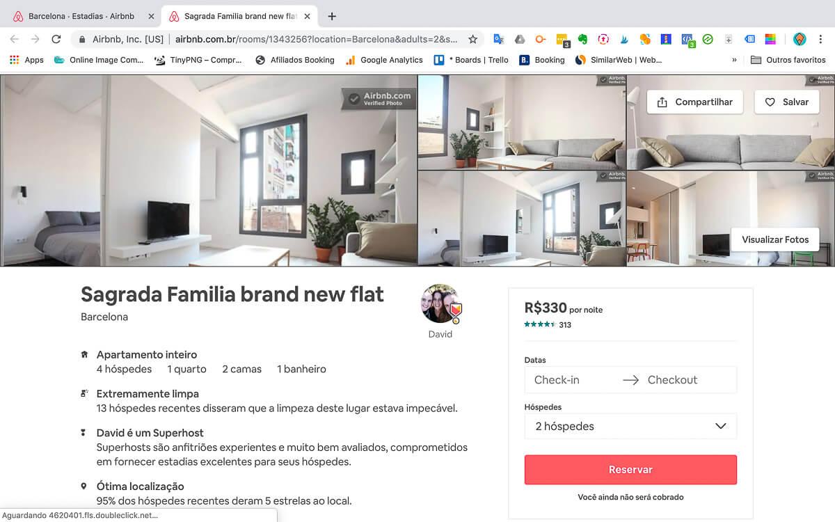 Como funciona o Airbnb - Espaço inteiro
