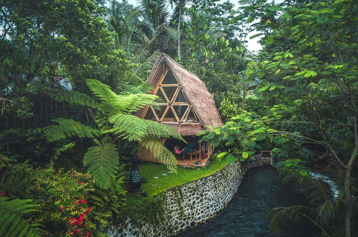 Como funciona o Airbnb - cabana bali